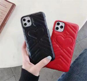 Luxo Emboss amor do coração Phone Case para IPhone 11 Pro X Xs Max XR 8 7 6 Plus SE PU capa de couro para Samsung Nota 10 9 8 Galaxy S10 S9 S8
