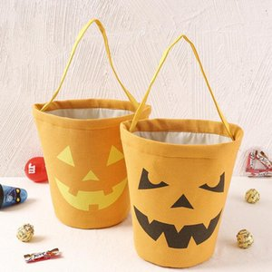 300pcs Halloween Candy Bucket Gift Wrap Kids Candy Collection Canvas Bag Pouch Festival Gift Handbag Decorations