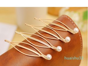 Designer-Simple atmospheric European and American wind act the role ofing is tasted Joker pearl gold hairpin clip wholesale free shipping