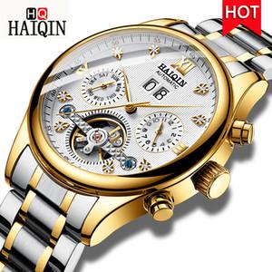 Haiqin Relógios Masculinos Homens Mecânicos Automáticos Relógios de Negócios Relógio Homens Top Marca de Luxo Militar Turbilhão Relógio À Prova D 'Água J190615