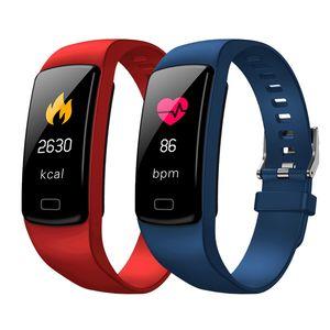 Pressão de Fitness Heart Rate Sangue Pulseiras Y9 inteligente Atividade Rastreador Assista Pulseira Banda Monitor para o presente de feriado de aniversário