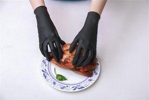 Одноразовые ПВХ виниловые перчатки 100шт пищевые фрукты овощные перчатки латексный порошок бесплатно прозрачные экзаменационные перчатки быстрая доставка