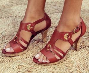 Luxe plus récent Femmes Populaire Sandales en cuir Chaussures design classique en cuir Outsole commercial plat toile plaine Sandal Taille 35-43