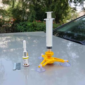 1 Установить автостекло Repair Tool Autreen ветрового стекла Ремонт Набор инструментов DIY Car Kit Ветер стекла для Chip Crack Оптовая окна автомобиля Ремонт Набор инструментов