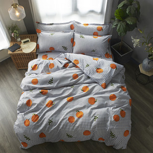 Fruit Bedding Set Soft Quilt Cover Pillowcase Soft bed sets twin full queen king duvet cover sets plaid bedclothes Home textile