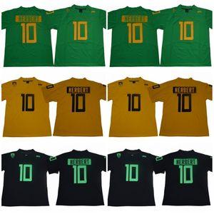 2018 Oregon Ducks Justin Herbert College Trikots Günstige Herren New Green Black 10 Justin Herbert Genähte University Football Shirts