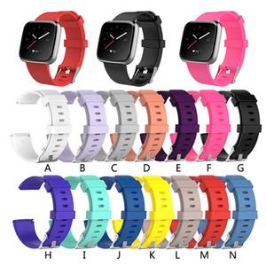 14 colores Correas de repuesto de silicona Fitbit Versa / Versa Lite Reloj Pulsera clásica neutra inteligente Correa de muñeca Para Versa