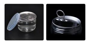 Più nuovo di plastica trasparente food grade storage container può 450 ml erba secca PET facile open end anello pull tab vuoto pesce tonno Tin can