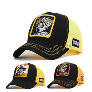 Moda Anime Seven Dragon Ball Sun Wukong Baseball Net Cap Estate Cappello da baseball parasole Cappello per il sole con ricamo di protezione