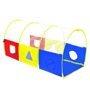 새 아기 장난감 텐트 휴대용 크롤링 터널 공 수영장 놀이 집 어린이 놀이 텐트 공 수영장 야외 Teepee 어린이 선물