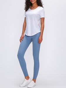 "LU-60 Align HR Pant 28"" Cross Taille Sports Fitness Leggings Gym Laufen Workout Yoga Pants Women plissiert nackt Sport neun Punkte Hose"
