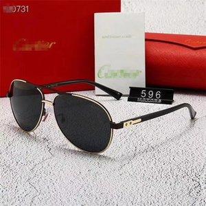 Senior Aviator Sunglasses UV polarizada Espelho de condução óculos de sol das mulheres dos homens Marca Designer Retro Outdoor metal Goggles Com Box