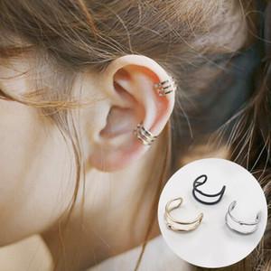 European and American punk minimal ear hole ear bone clip personality double loop male and female u-shaped ear clip