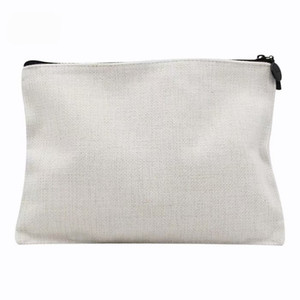 30pcs 2020 New sublimation linen Blank cosmetic bags coin purse makeup bag hot transfer printing blank consumable
