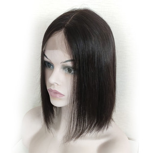 2*6 Front Lace Bob Wigs Brazilian Glueless Pre Plucked Straight Lace Front Wigs Human Hair For Women #1B