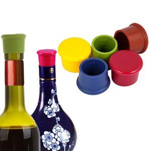 Silicone Wine Stopper Leak Proof Wine Plugue do frasco de Cap fresco Mantendo aferidores Beer Bebidas Champagne plug Bar Ferramentas OOA7468