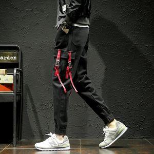 New fashion Men's Pants pocket Men cool HIPHOP joggers Pants Plus Size Trousers men belt women streetwear T200706