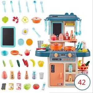 42pcs / Set Simulation Küche Spielzeug Spray Wasser Geschirr Kinderspielzeug Cooking Table Set