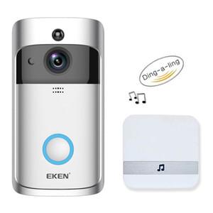 Камера EKEN V5 Смарт WiFi Видео Дверной камеры Визуальный Интерком С Chime ночного видения IP Door Bell Wireless Home Security