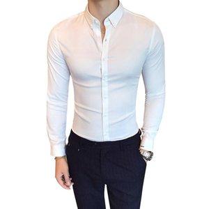 Erkek Uzun Kollu Tuxedo Gömlek Kaliteli Speing Sonbahar Yeni Gömlek Erkek Slim Fit İş Casual İngiliz Stil Gömlekler