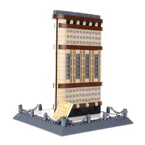 838pcs Shipping Toys Building Famous Intelligence Flatiron 03 Small Kids Assembling Building Blocks Granule Architecture Free Children Nkia