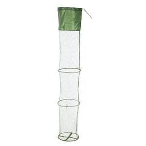 Portable Collapsible Mesh Fishing Net Cage Fish Trap Fishing Basket for Keeping Fishes Smelt Minnows Crab Shrimps Lobsters