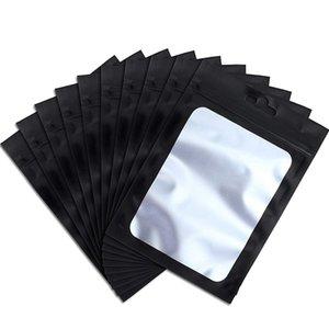 Kendinden yalıtılmış Depolama Sarf Malzemesi Kılıfı Packaging Temizle Pencere Kahve çekirdekleri ile 200 adet Açılıp kapanabilir Saklama Poşetleri (B