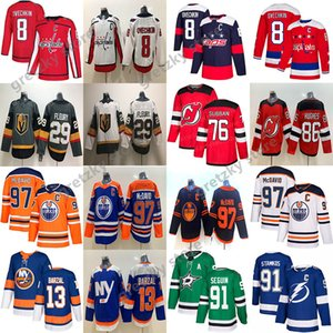 Connor McDavid Edmonton Oilers Jersey Alex Ovechkin Washington Capitales Marc-Andre Fleury Stamkos Mathew Barzal NHL Hockey