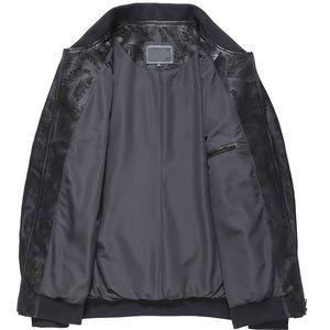 2020 Genuine Leather Jacket Men Spring Autumn 100% Sheepskin Coat Plus Size Bomber Jacket Blouson Cuir Homme 4779 KJ1937