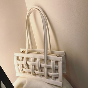 Designer- 2020 new ladies shoulder bag PU woven bag chest bag handbag chain handbag purse Messenger canvas