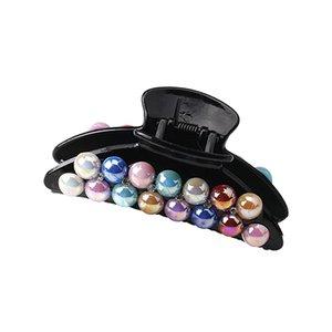 Nuovo design Big Colour Pearl Hair Crab Claw Donna Accessori per capelli Capelli Claws Gilrs Headwear Hair Clip Banana Barrettes