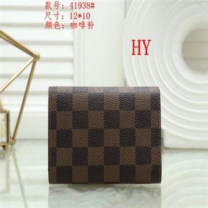Wholesale leather wallet for women multicolor designer short wallet Card holder women purse classic zipper pocket Free shipping