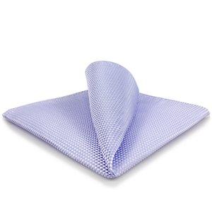 EH25 Lavender sólido de seda roxo Mens Bolso Wedding Fashion Square Handkerchief novidade vestido de lenço