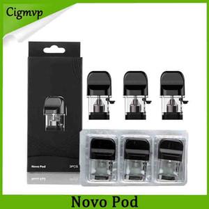 Novo pod Kiti Vape Kartuşları Değiştirme 2 ml Doldurulabilir Boş Mantar Novo Pod Vape Kalem Kiti Için Kartuş