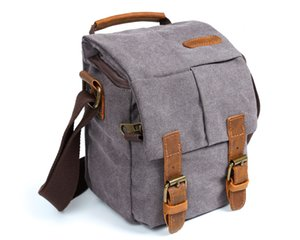 canvas camera bag waterproof durable shoulder bag for camera professional padded camera bag for carry out wholesale from factory