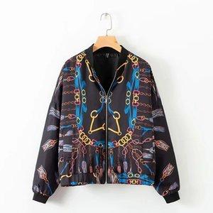 Wholesale Women's High Quality Jacket Long Sleeve Designer for Autumn Winter Coats Zipper Print Streetwear Fashion Female Top S-L Wholesale
