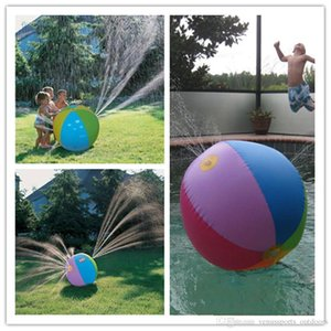 ht Inflatable Beach Water Ball Outdoor Sprinkler Summer Inflatable Water Spray Balloon Outdoors Play In The Water Beach Ball