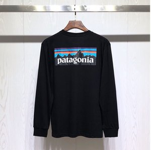 2020patagonia Hommes 19SS T-shirts Automne Spring Mountain imprimé Fashion Tops manches longues