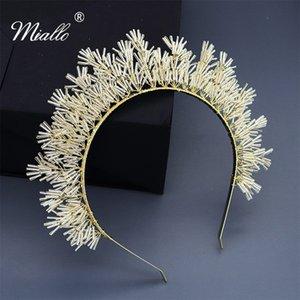 Miallo vacanze Carnevale Donne Diademi e corone austriaco di cristallo Donne Copricapo Handmade Hairbands
