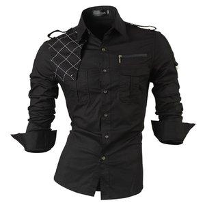 jeansian мужское платье с длинным рукавом повседневные рубашки Slim Fit мода стильный дизайнер военный 8371 T200422