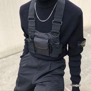 Chaleco táctico de nylon militar del chaleco del pecho plataforma paquete de bolsa de la pistolera táctica arnés walkie talkie cintura del paquete de radio para la radio de dos vías