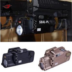Linterna de luz LED táctica SBAL-PL blanca con láser rojo en rieles de pistola estándar o sistemas de riel M1913