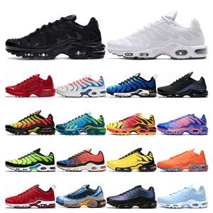nike air max tn plus  tênis para mulheres dos homens branco preto NEPTUNE VERDE azul mens trainer designer de esportes respiráveis tênis tamanho 36-45