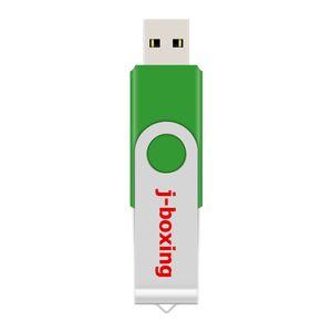 Verde do metal Rotating 64GB USB 2.0 Flash Drives 64GB giratória do Flash Pen Drive Chega Memory Stick para PC portátil Macbook Tablet Thumb Armazenamento