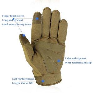 Armee-Militär taktische Handschuhe Fahrrad Klettern Wandern Wear Schutzhandschuh Camo Vollfinger-Handschuh New