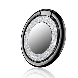 Round Glitter 360 Degree Phone Stand Holders Metal Finger Ring Stand