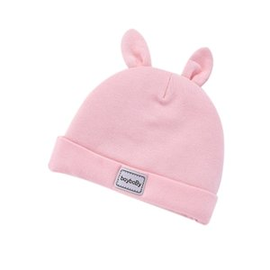 2020 Newborn Hut Herbst-Winter-0-3-6 Monate Männer und Frauen Baby-Baumwolle verdicken mit Kapuze Hut Neugeborenes Baby Hat