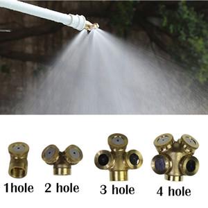 Cobre amarillo ajustable del aerosol Boquilla de nebulización Jardín Rociadores conexión de la manguera del conector de agua duradero de montaje Inicio de riego