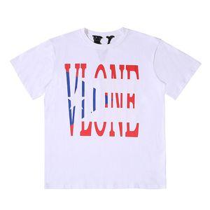 Vlone Стилист Футболка Streetwear Vlone Китайский дракон Мужчины Женщины Hip Hop Футболка Vlone Mens Black White T Shirt Polo Размер S-XL