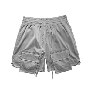 Hot France Summer Fashion Women Men High Street Multi Pocket Middle Pants cool Jogging Shorts silver black Casual pants